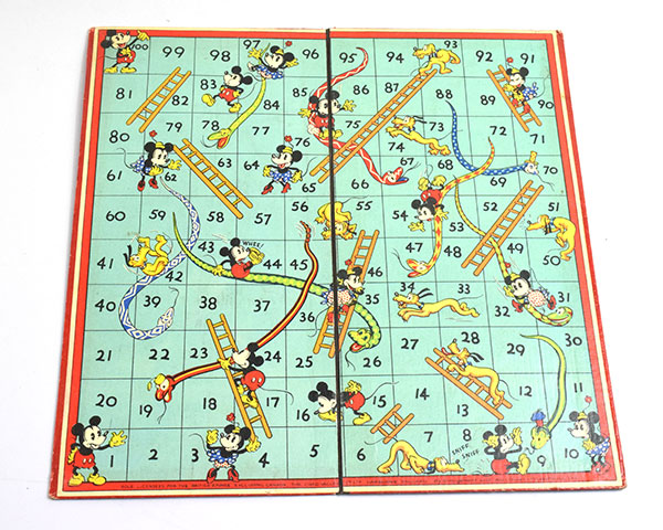 Mickey Mouse Snakes and Ladders