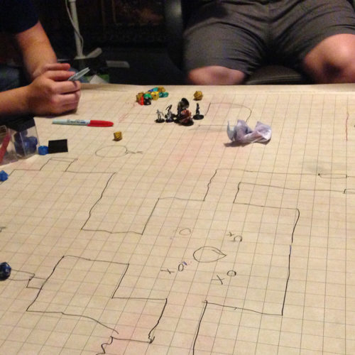 playing dungeons & dragons