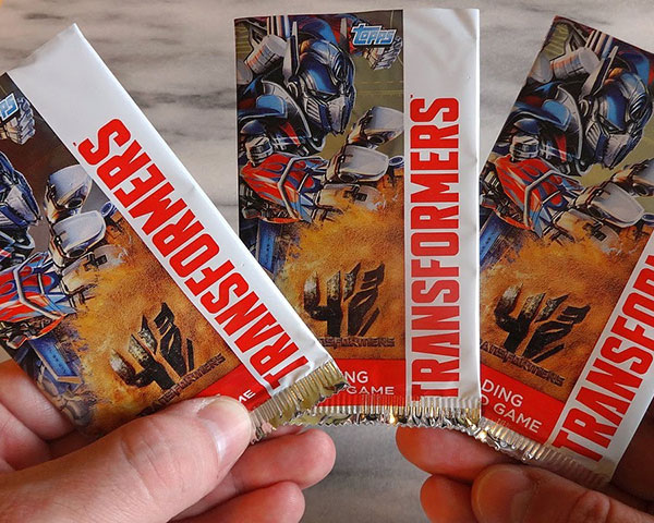 transformers trading cards